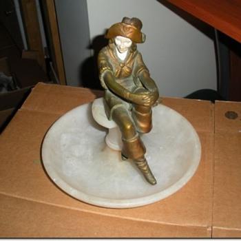 J. B. Hirsch Art Deco  Lady Pirate Pipe Rest
