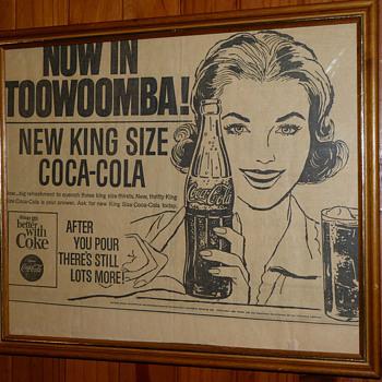 Vintage Framed Coca Cola Newspaper Print