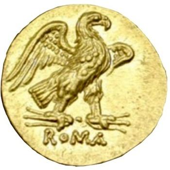 Roman Republic gold coin circa 211 B.C. - Gold