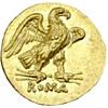 Roman Republic gold coin circa 211 B.C.