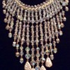 Stunning crystal and pearl drop necklace