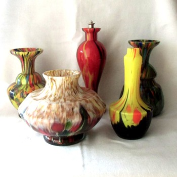 Latest Line Up of Ruckl Small Glass Pieces, perfume bottles, miniature vases, decanter etc. - Art Glass