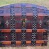 Rare!  1870's 1880's Ornate Barrel Stave Trunk