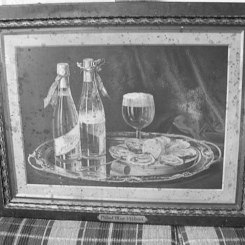 1903 All Metal Pabst Blue Ribbon Picture - Breweriana