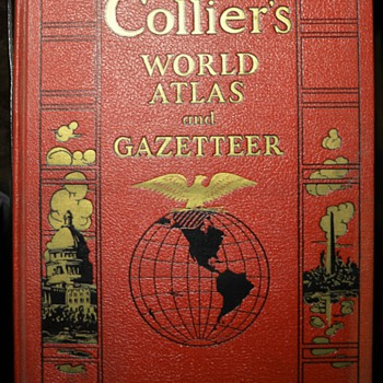 1938 Collier's World Atlas and Gazeteer  - Books
