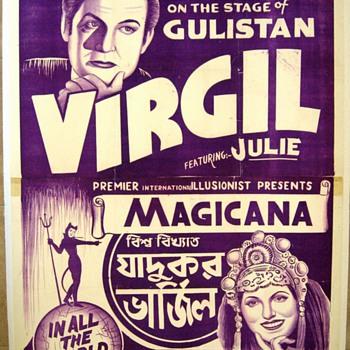 "Original 1953 ""Virgil"" Stone Lithograph Poster"