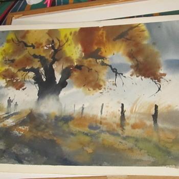 watercolor or print - Fine Art