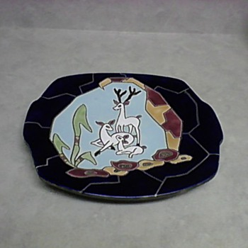 2  ISRAEL TECRAMIC PLATES 1940 AND  1942 - Pottery