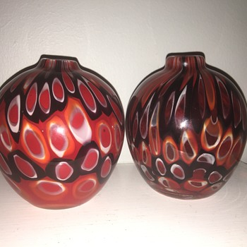 Two glass vases - Art Glass