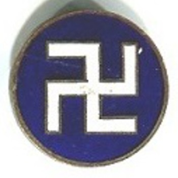 The Backward Swastika - Medals Pins and Badges