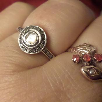 sterling silver diamond ring - Fine Jewelry