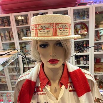 Budweiser Styrofoam hat  - Breweriana
