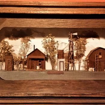 Texas Farm Diorama - Fine Art