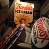 Borden's Ice Cream...Dad's Root Beer...Hydrox Ice Cream...Signs