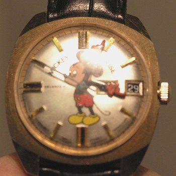 Vintage West German Self Winding 17 Jewels MICKEY MOUSE day date watch - Wristwatches