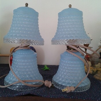 Blue lamps from my mom