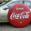 1956 Coca Cola Button - 4 Feet (Canadian)