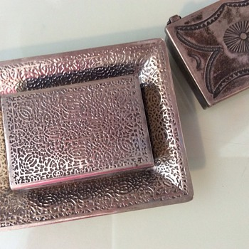 Tiffany matchbox/snuff box with Tray - Silver