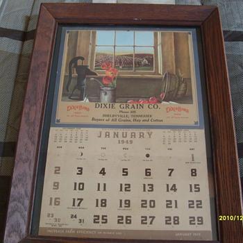 1949 Dixie Grain Co. Calendar - Advertising
