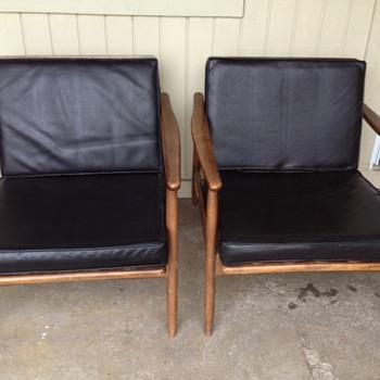 Retro Japanese made Danish lounge chairs