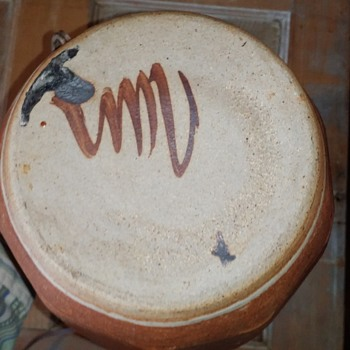 Studio pottery lamp, leach, mackenzie style ...whos pottery mark? - Pottery