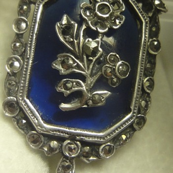 Nice Victorian silver pendant with Marcasites  - Fine Jewelry