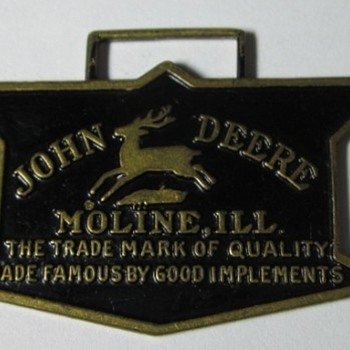1936 John Deere Logo Watch Fob by Robbins Co.