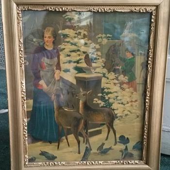 Antique picture  - Fine Art