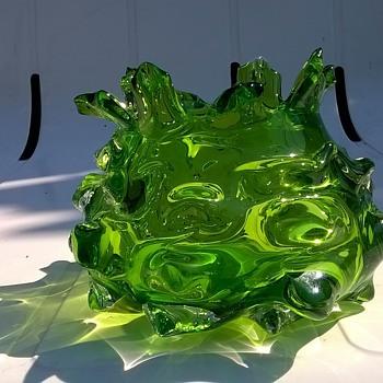 Little Green Vase, Thrift Shop Find 80 Cents - Art Glass