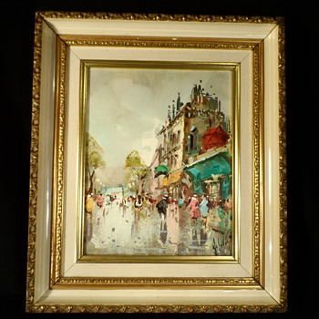 European Street Scene Oil Painting  - Fine Art
