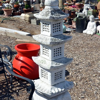 Very Large Japanese-style Pagoda Garden Statue - Asian