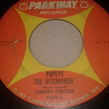 "CHUBBY CHECKER PARKWAY RECORDS 45 RPM ""POPEYE THE HITCHHIKER"" / ""LIMBO ROCK"" [P849-B] - Records"