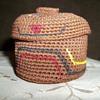 Alaskan Tlingit Knob Top Woven  Trinket Basket by Dorrie Jackson