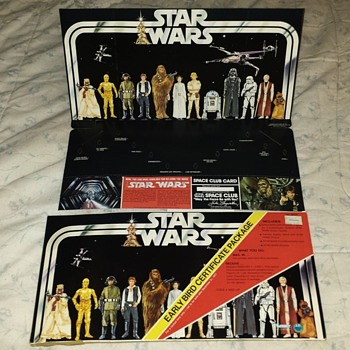 Neat Old 1977 Star Wars Display Board in Original Package - Toys