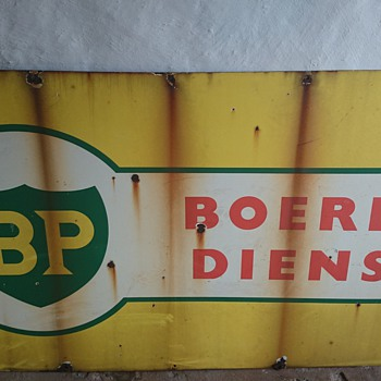 Vintage Bp and Coopers' sign - Signs