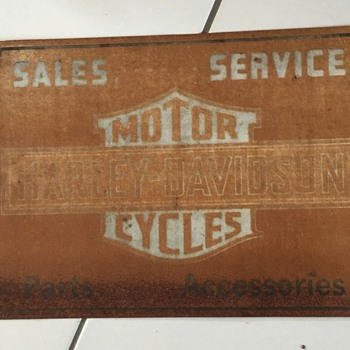 Harley Davidson dealer sign ,original or repop??? tks fellow Harley lovers