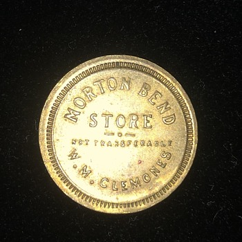 Trade Token worth 5 cents at Morton Bend Store  - US Coins