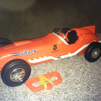 "Remco ""Shark"" teathered car"