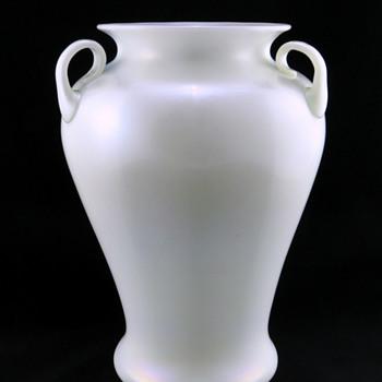 Steuben 7568 Ivrene Ribbed Vase - Art Glass