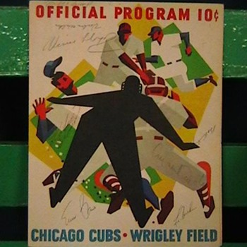 1963 Cubs Scorecard Signed by Roberto Clemente, Ernie Banks, & Others