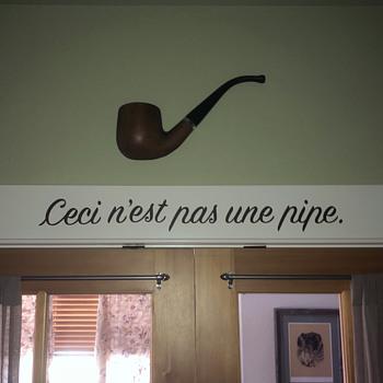 Vintage Cast Aluminum Pipe, Smoke Shop Display Sign - Tobacciana