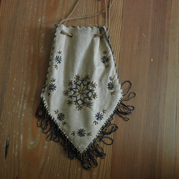 Beaded Buckskin Bag - Native American