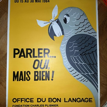 French Language Poster Art 1964  - Advertising