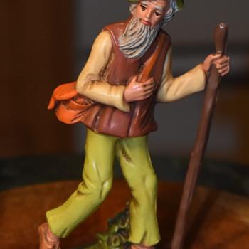 Plastic / Resin Figurine of a Wanderer - Figurines