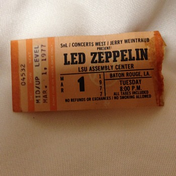 Led Zeppelin 1977 - Music Memorabilia
