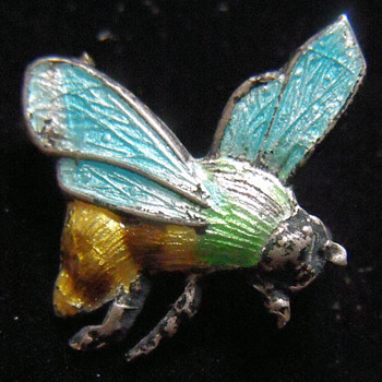 Enameled Bee Pin - Costume Jewelry