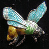 Enameled Bee Pin