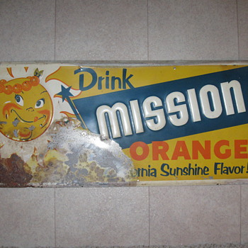 Rough Mission Orange tin sign - Signs