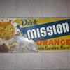 Rough Mission Orange tin sign