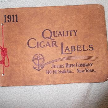 Salesman's Cigar Box Labels Collection 1911 Julius Bien - Tobacciana